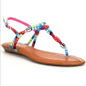 Gianni Bini Multicolored rope Grayden Sandals